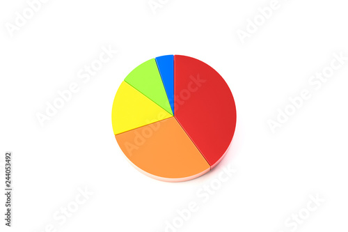 Fotografía  円グラフの3D画像