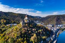Germany, Rhineland-Palatinate, Cochem, Moselle River, Cochem Imperial Castle