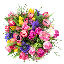 Bouquet Spring Tulip Flowers I...