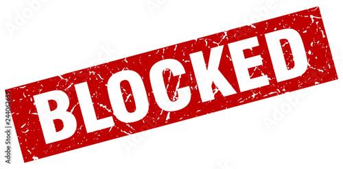 Foto square grunge red blocked stamp