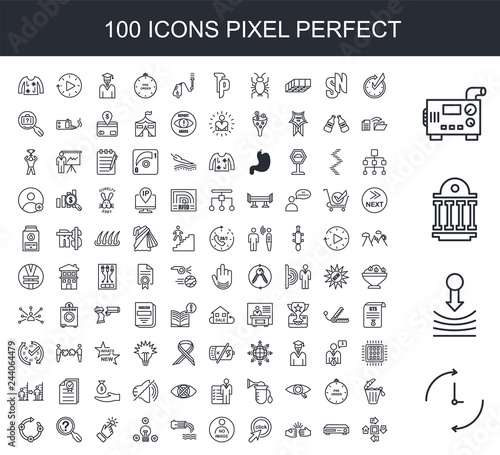 Fotografija 100 line icon set
