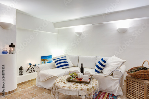 Phenomenal Interior Of Antechamber With Big Cozy White Sofa With Squirreltailoven Fun Painted Chair Ideas Images Squirreltailovenorg