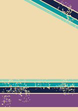 Retro Green Blue Purple Lines Background