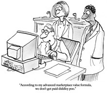 Three Workers Look At Their Ma...