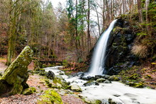 Waterfall On The Stropnice River, Nove Hrady, Czech Republic