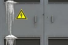 Locked Electric Panel With Haz...