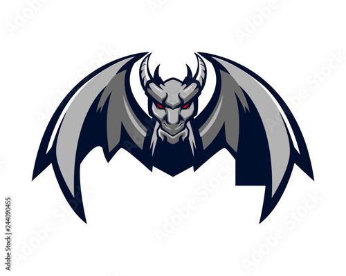 Obraz na plátně gargoyle bat mascot dragon monster 2