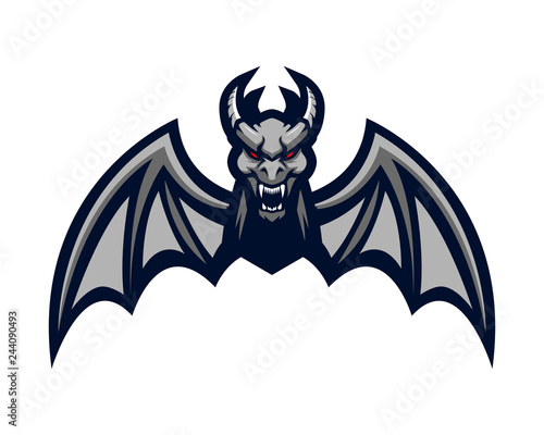 Fototapeta gargoyle bat mascot dragon monster