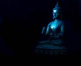 Antique Buddha metal statue