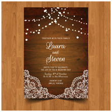 Save The Date Wedding Invitation Card Design With Flower