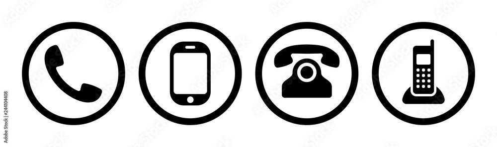 Fototapeta Phone icon collection. Call sign. Vector