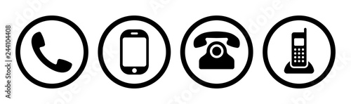 Obraz Phone icon collection. Call sign. Vector - fototapety do salonu