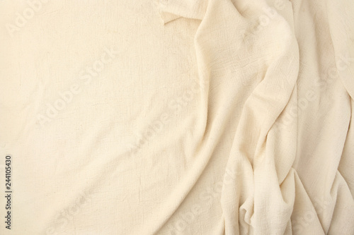 Abstract beige woven textile drape background Canvas Print