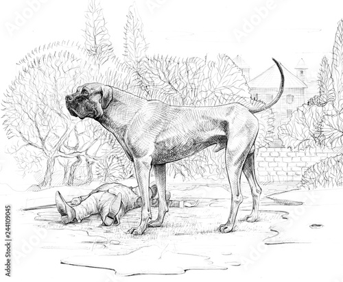 The Hound Of The Baskervilles Big Dog Drawing Buy This Stock