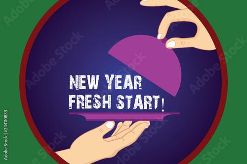 Fényképezés  Writing note showing New Year Fresh Start