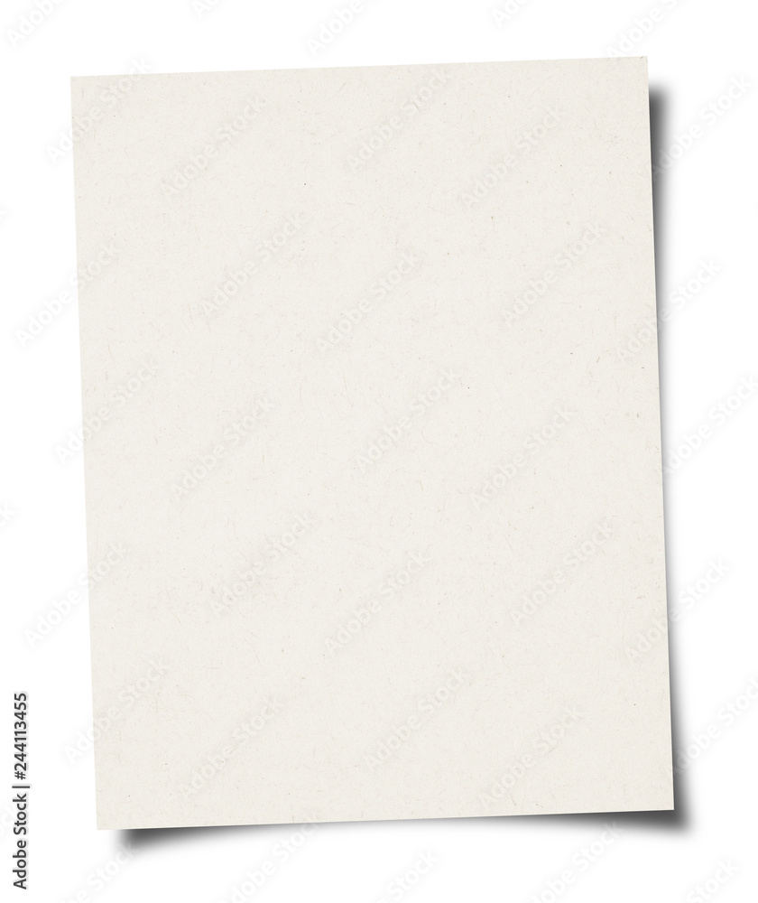 Fototapety, obrazy: White Paper sheet background - isolated on white