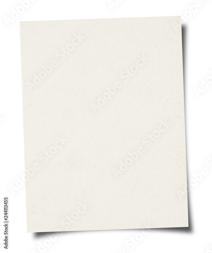 Pinturas sobre lienzo  White Paper sheet background - isolated on white