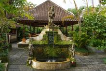 Fountain In An Asian Garden