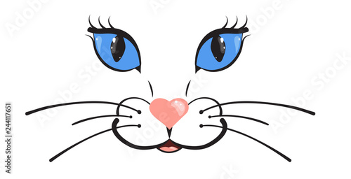 Cuadros en Lienzo Cute cat muzzle