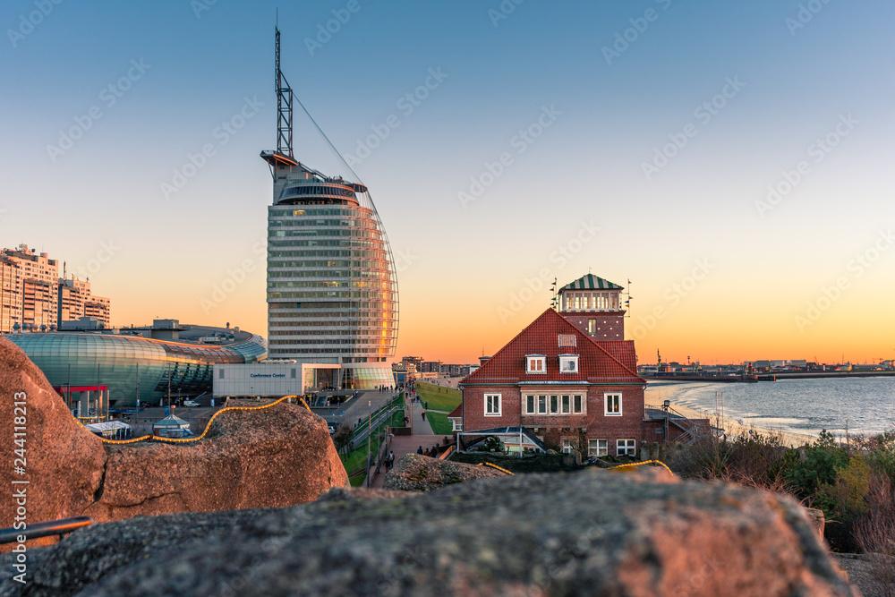 Fototapeta Sonnenuntergang in Bremerhaven