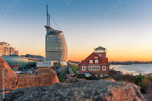 Fotografie, Obraz  Sonnenuntergang in Bremerhaven