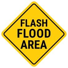 Warning Sign Flood Warning. Flash Flood Watch