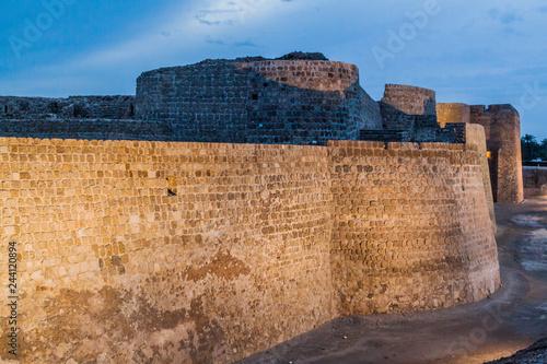 Evening view of Bahrain Fort (Qal'at al-Bahrain) in Bahrain