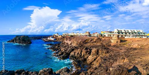 El Cotillo - scenic village in rocky northen coast of Fuerteventura. Canary islands
