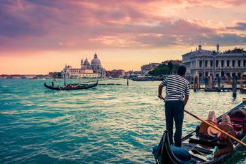 Gondola na Piazza San Marco, Venezia, Włochy.
