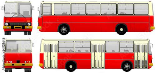 Türaufkleber London roten bus Autobus z czasów PRL