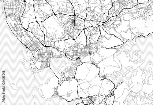 Cuadros en Lienzo  Area map of Shenzhen, China