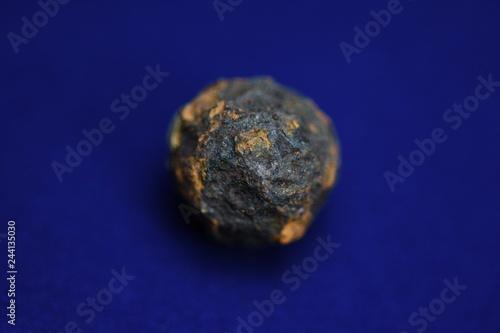фотография  micrometeorites on a blue background