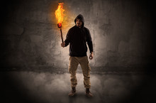 Ugly Wayfarer With Burning Tor...