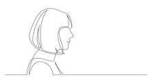 Profile Portrait Of Woman With...