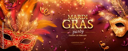 Mardi Gras party banner Fototapete