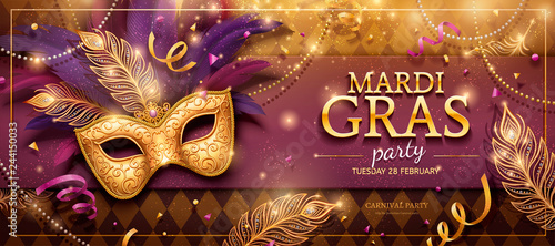 Obraz Mardi Gras party banner - fototapety do salonu