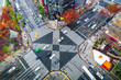urban city aerial view in ginza, tokyo, Japan