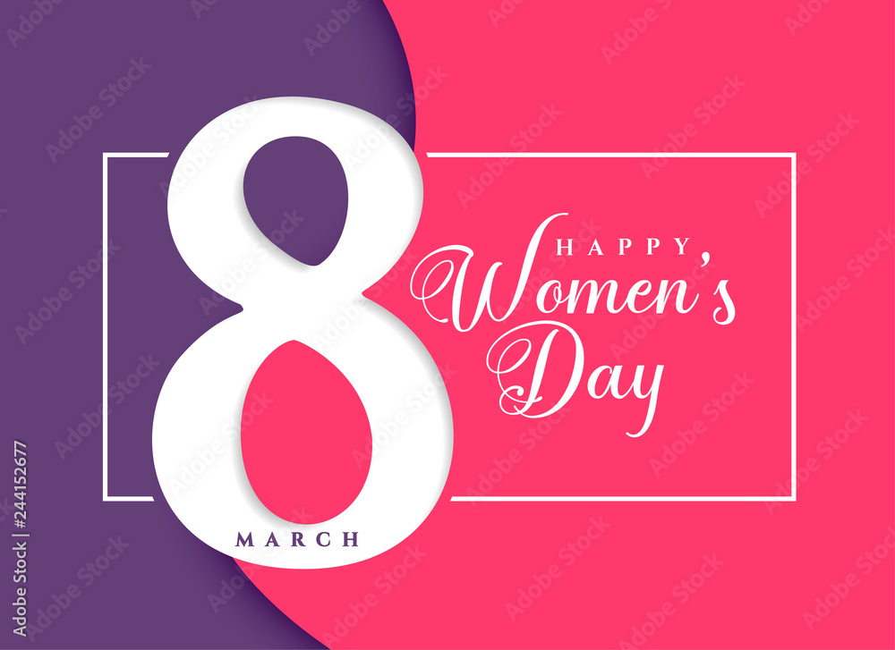 Fototapeta happy women's day march celebration background