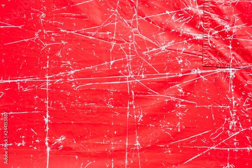 plástico rojo arrugado y con marcas Canvas Print