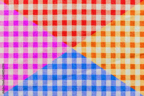 Fotografie, Obraz tissu Vichy couleur