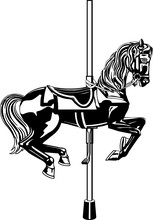 Carousel Horse Vector Illustra...