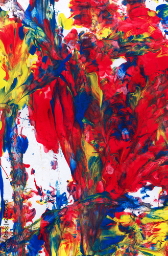 Fototapety, obrazy: abstract art. creative hand painted background, wallpaper, texture.