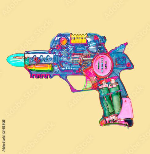 retro ray gun  toy bright color