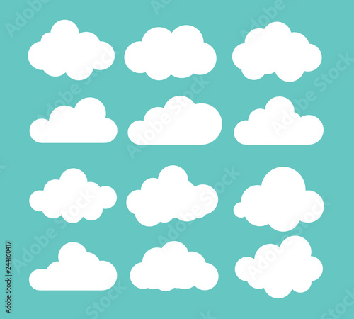 Clouds icon , vector illustration Wall mural