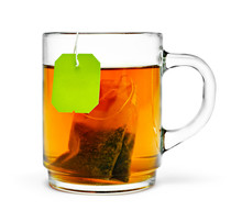 Cup Of Tea, Isolated On White Background. Hot Drink, Herb Tea Or Assam Or Earl Grey Tea. Cut Out Object.