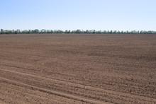 Tractor Plowed Field