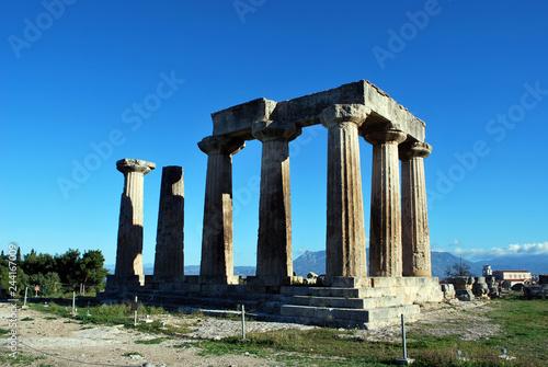 The Apollo Temple in Corinth, Greece Wallpaper Mural