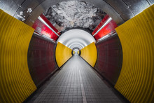 Brunkeberg Tunnel In Rock For Pedestrians And Cyclists