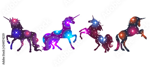 Unicorn galaxy bundle Wallpaper Mural