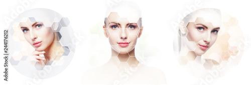 Fotografía  Collage of female portraits